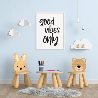 Good Vibes Only A4 Print - Children's Prints