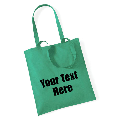 Personalised Tote Bag - Choose Your Text and Bag Colour