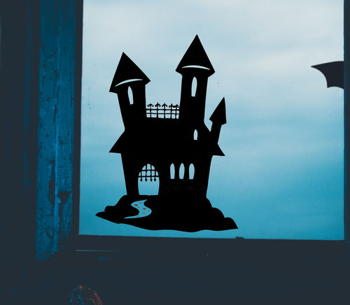 Haunted House Halloween - Vinyl Window Sticker