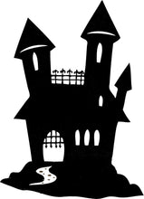 Load image into Gallery viewer, Haunted House Halloween - Vinyl Window Sticker