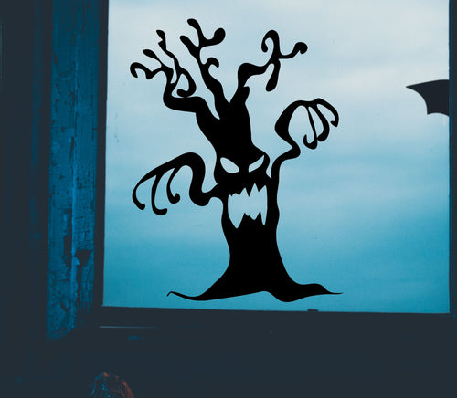 Spooky Halloween Tree - Vinyl Window Sticker