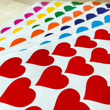 Load image into Gallery viewer, Large Rainbow Heart Stickers - Window Glass Decorating - 420 Stickers 7 Colours