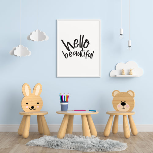 Hello Beautiful A4 Print - Children's Prints
