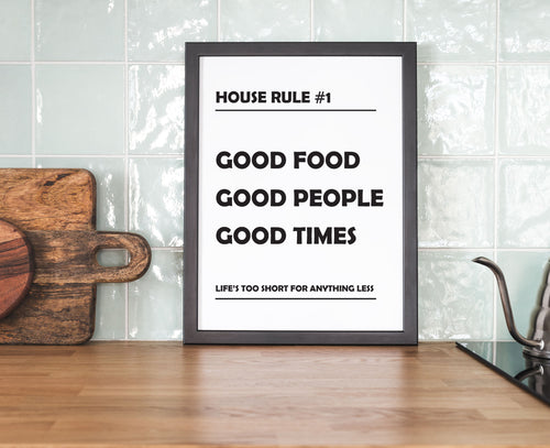 House Rule Number 1 - Kitchen Prints
