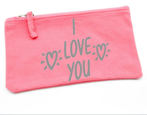 I Love You Pouch - Valentines Gift