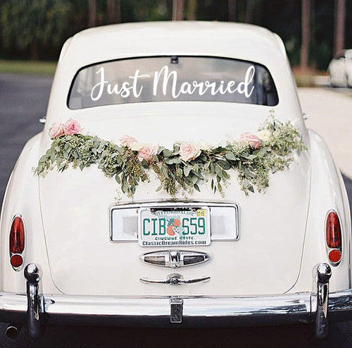 Just Married Vinyl Stickers - Weddings
