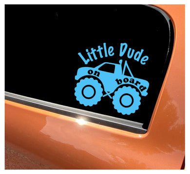 Little Dude On Board - Car Sticker