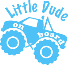 Load image into Gallery viewer, Little Dude On Board - Car Sticker