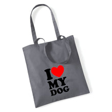 Load image into Gallery viewer, I Love My Dog - Tote Bag