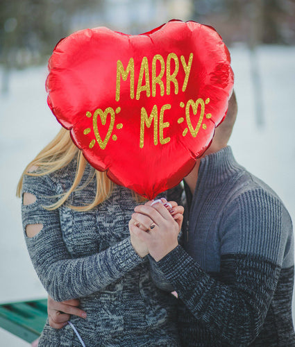 Marry Me Sticker - Balloon Valentines Vinyl Sticker