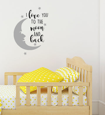 I Love You To The Moon And Back - Children's Wall Art