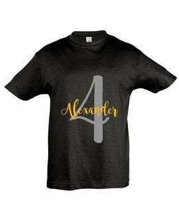 Personalised Name and Age T-shirt - Birthday T-shirt