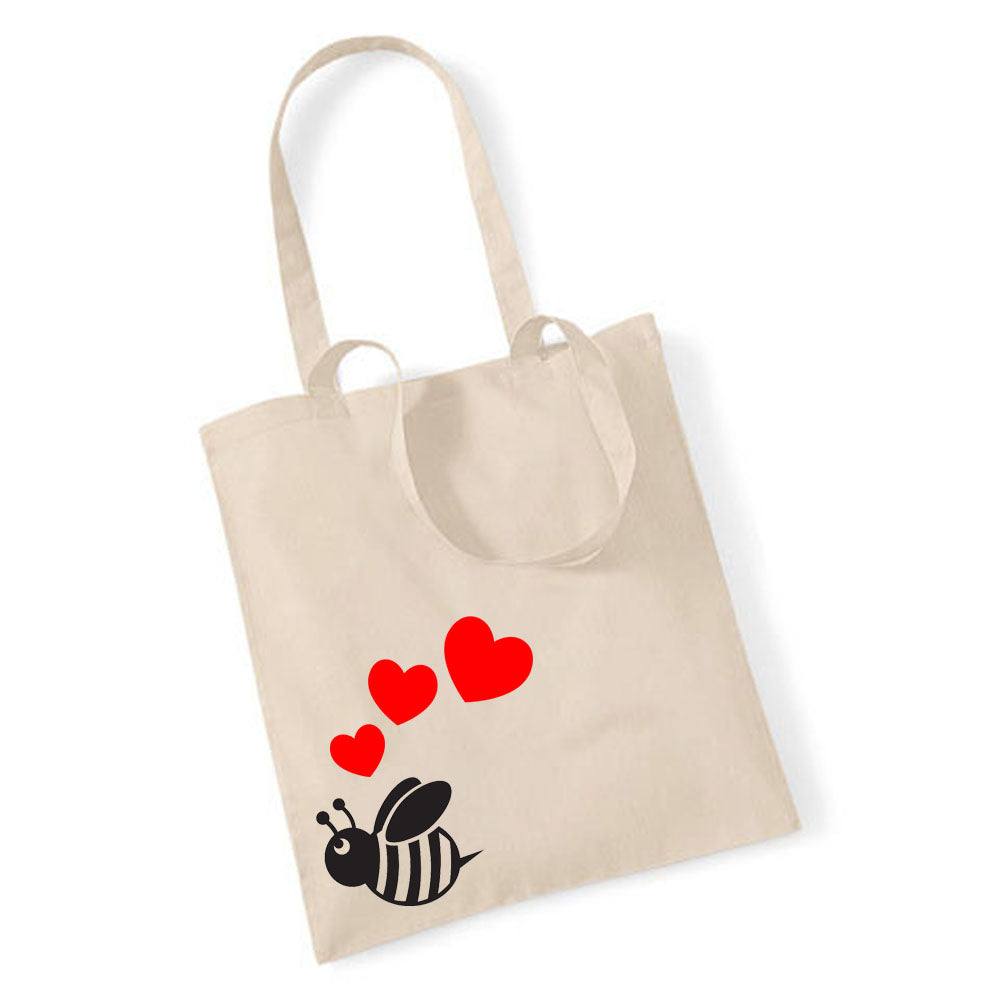 Cute Bee With Hearts - Tote Bag