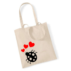 Ladybird With Hearts - Tote Bag