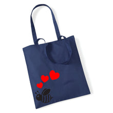 Load image into Gallery viewer, Cute Bee With Hearts - Tote Bag