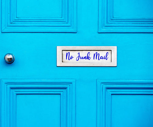 No Junk Mail - Letter Box Vinyl Sticker