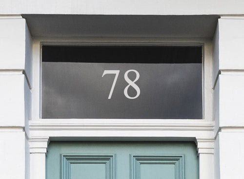 House Number Sticker for Doors and Glass Windows