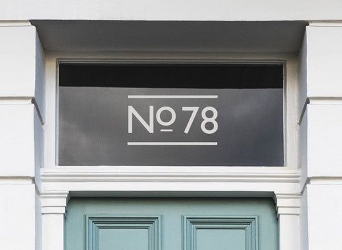 House Number With Lines Sticker for Doors and Glass Windows