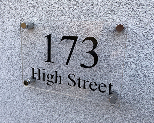 Acrylic House Sign - House Number and Street - A5 - 210 x 148mm