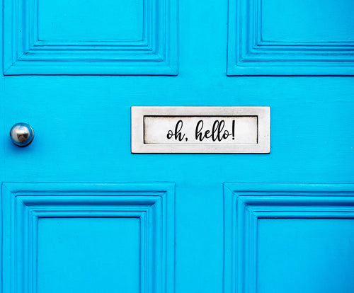 Oh, Hello - Letter Box Vinyl Sticker