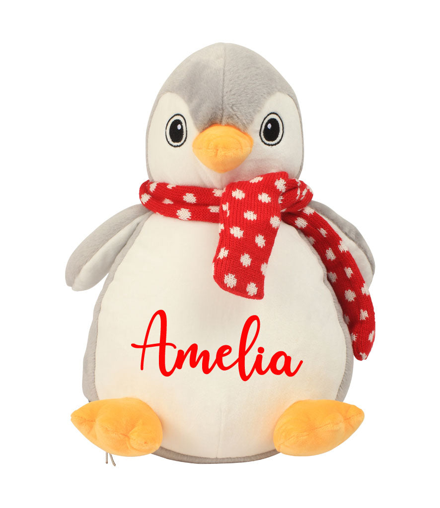 Personalised Name - Large Penguin Teddy
