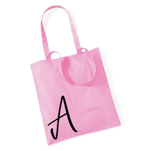 Personalised Choose Your Letter Alphabet Tote Bag
