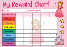 Load image into Gallery viewer, Princess A4 Reward Chart
