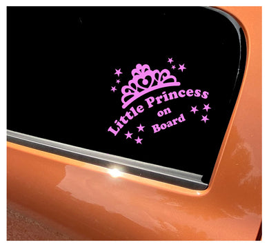 Little Princess On Board - Car Sticker