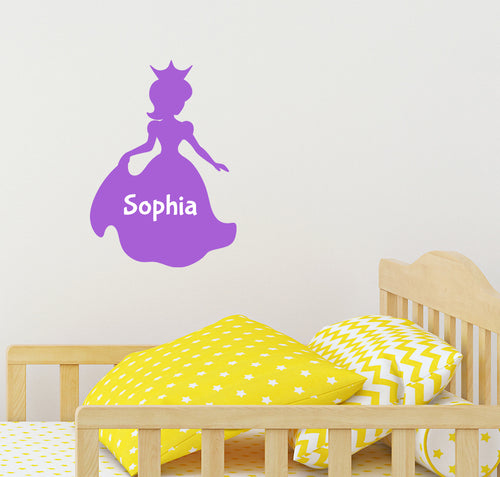 Personalised Princess Wall Sticker
