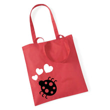 Load image into Gallery viewer, Ladybird With Hearts - Tote Bag
