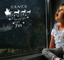 Load image into Gallery viewer, Santa Please Stop Here- Christmas Wall / Window Sticker