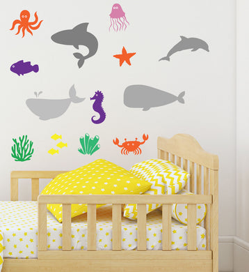 Underwater Animal Stickers - Select Your Animal And Colour