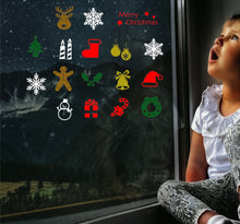 Load image into Gallery viewer, 17 Mini Christmas Sticker  - Christmas Wall / Window Sticker