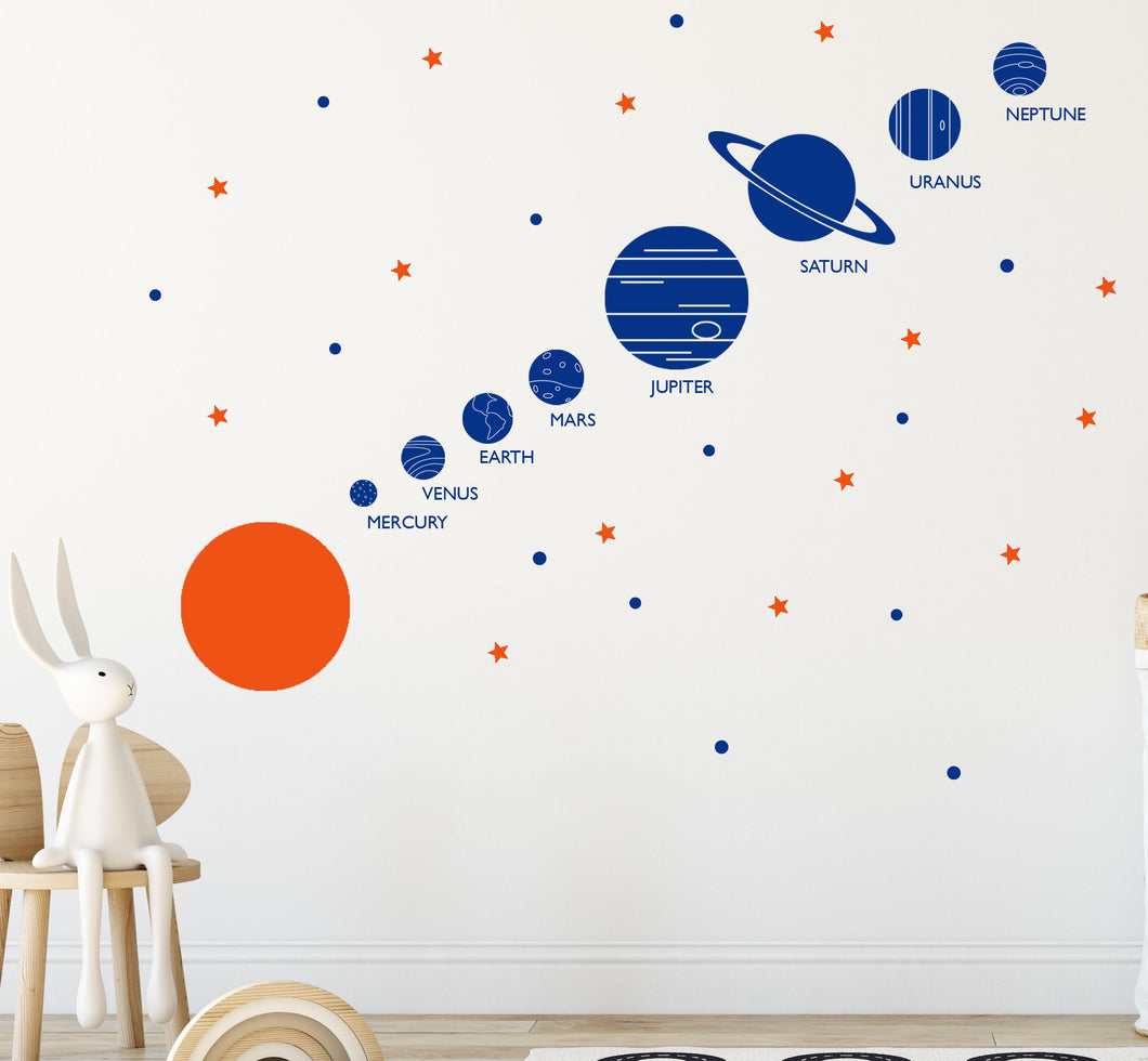 Solar System Wall Art Vinyl Sticker