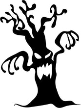 Load image into Gallery viewer, Spooky Halloween Tree - Vinyl Window Sticker