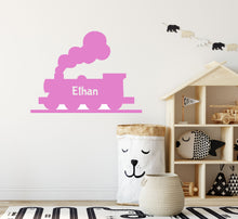Load image into Gallery viewer, Personalised Steam Train Wall Sticker - Decal for Walls or Windows