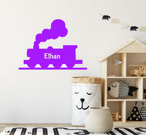 Personalised Steam Train Wall Sticker - Decal for Walls or Windows