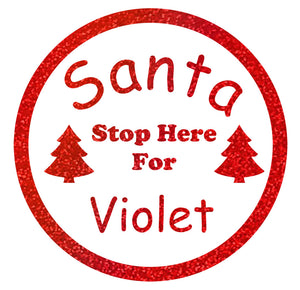 Santa Stop Sign - Christmas Wall / Window Sticker