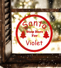 Load image into Gallery viewer, Santa Stop Sign - Christmas Wall / Window Sticker