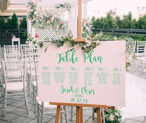Table Plan Vinyl Stickers - Weddings