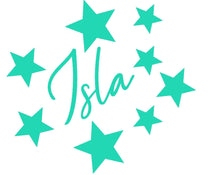 Load image into Gallery viewer, Personalised Name Star Sticker for Childs Bedroom - Children's Wall Art
