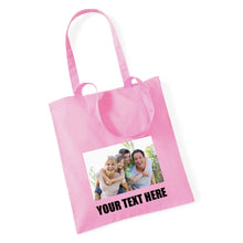 Load image into Gallery viewer, Personalised Photo Tote Bag - With Text