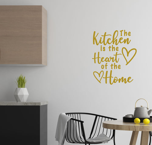 The Kitchen Is The Heart Of The Home - Kitchen Dining Wall Art