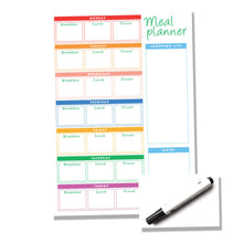 Load image into Gallery viewer, Weekly Reusable Three Meal  - A4 Meal Planner