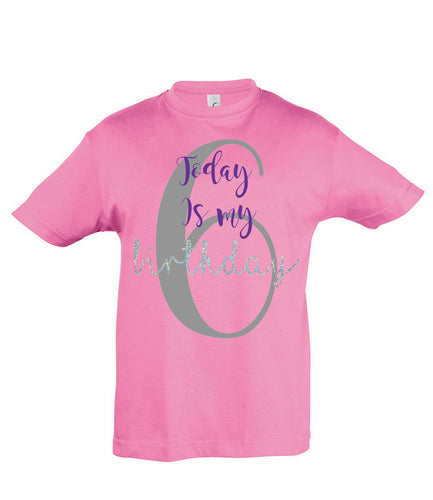 Children's Age T-shirt - Birthday T-shirt