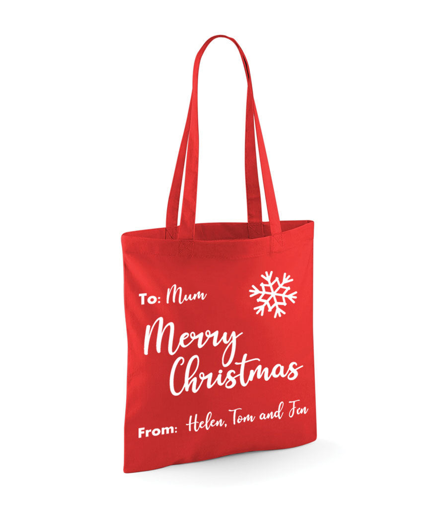 Christmas Personalised Gift Bag - Tote Bag