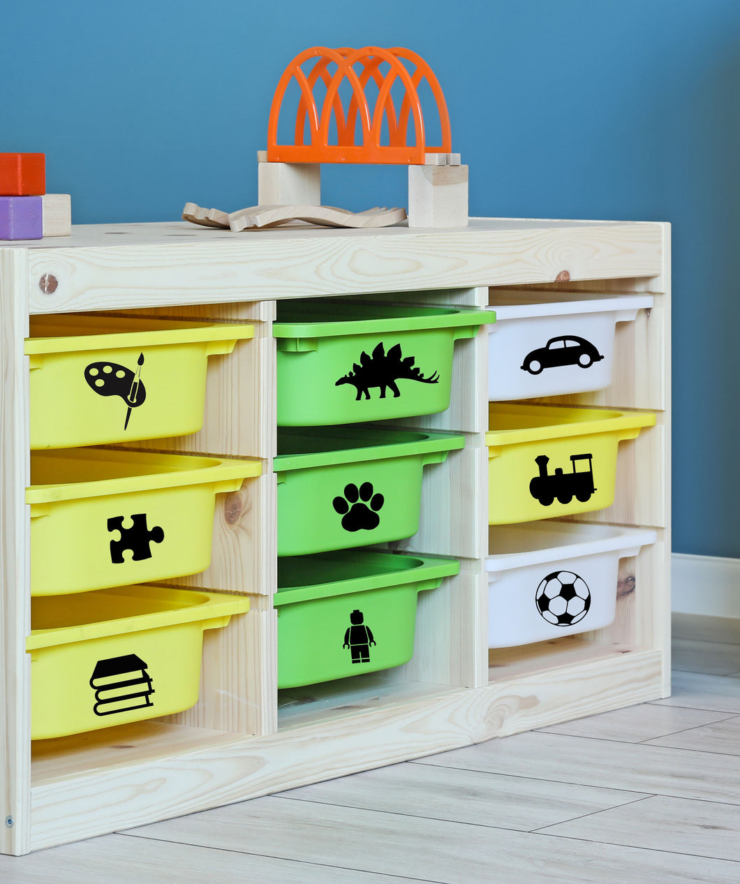 Toy Box Image Labels  - Set A - Toy Box Storage Sticker