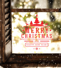 Load image into Gallery viewer, Merry Christmas And A Happy New Year - Christmas Wall / Window Sticker