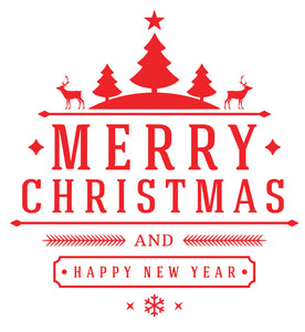 Merry Christmas And A Happy New Year - Christmas Wall / Window Sticker