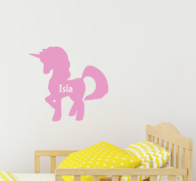 Personalised Unicorn - Children's Wall Sticker